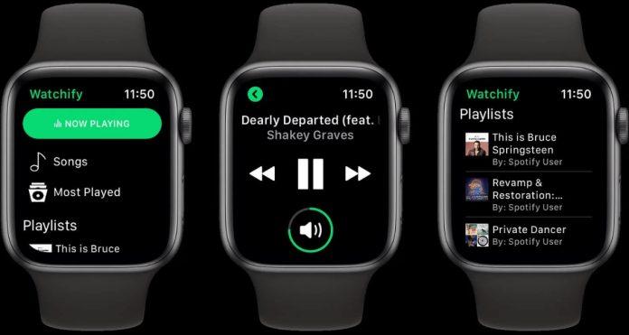 Apple Watch'ta Spotify Devri