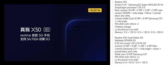 Realme X50 5G Özellikleri Sızdırıldı!