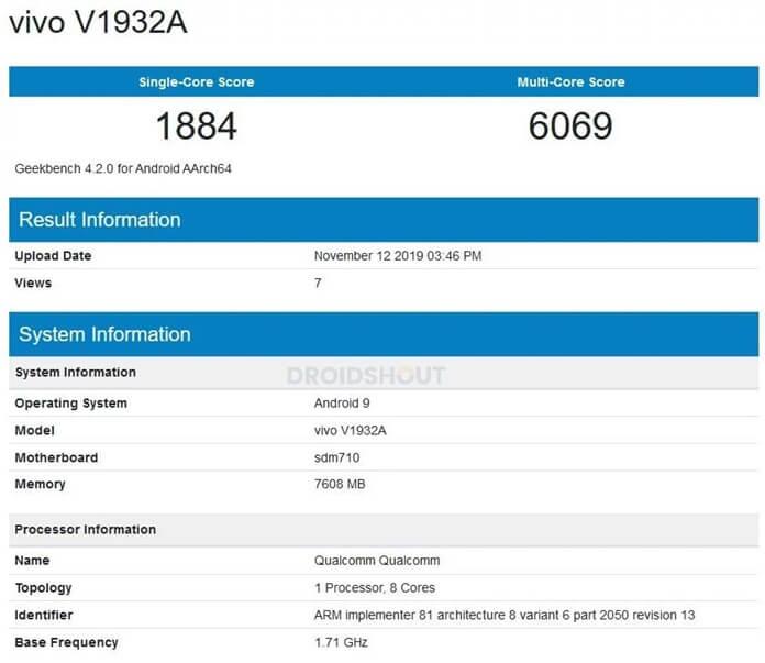 Vivo S5 Geekbenchte Görüntülendi!