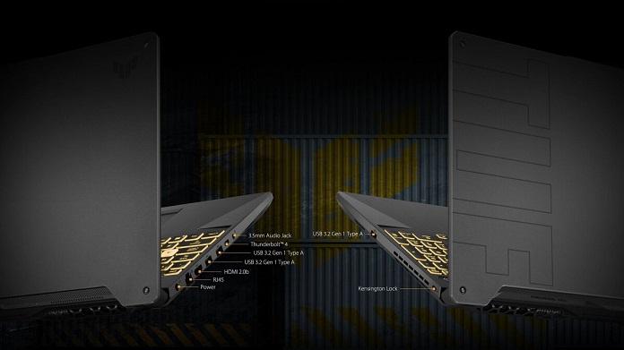 Asus TUF Gaming F15 FX506HM - Baglantilar
