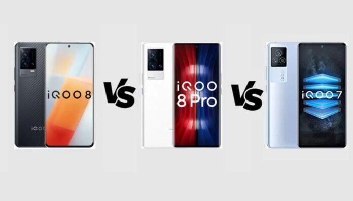 iQOO 8 vs iQOO 8 Pro vs iQOO 7 Karşılaştırması